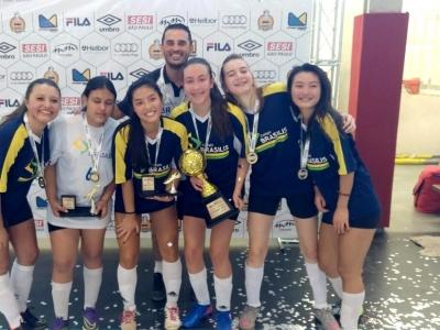 JOGOS: Brasilis é campeão do Futsal Feminino