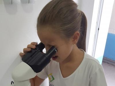 Ensino Fundamental observa células da mucosa bucal