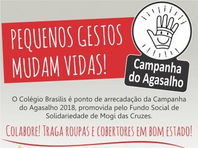 Colégio Brasilis participa da Campanha do Agasalho 2018