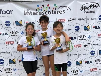 Jogos Interescolares: 5 alunos são destaque na natação!