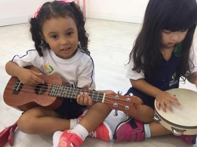 Instrumentos musicais na Educação Infantil