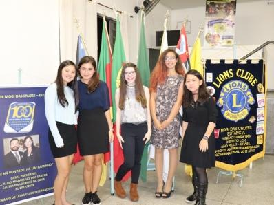 Alunas vencem concurso do Lions Clube sobre a paz