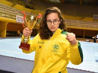 Aluna é campeã sul-americana de Karate Kyokushin