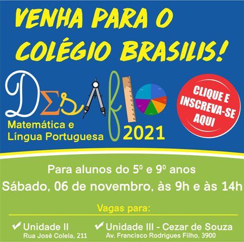Venha para o Colégio Brasilis!